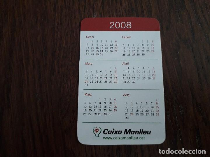 CALENDARIO DE PUBLICIDAD CAIXA MANLLEU AÑO 2008 EN CATALÁN. (Coleccionismo - Calendarios)