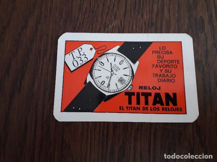 CALENDARIO DE PUBLICIDAD RELOJ TITAN AÑO 1970 (Coleccionismo - Calendarios)
