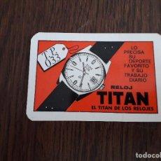 Coleccionismo Calendarios: CALENDARIO DE PUBLICIDAD RELOJ TITAN AÑO 1970. Lote 194534716