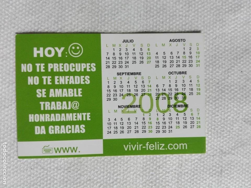 CALENDARIO BOLSILLO 2008 - VIVIR FELIZ (Coleccionismo - Calendarios)