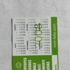 Coleccionismo Calendarios: CALENDARIO BOLSILLO 2008 - VIVIR FELIZ. Lote 194534910