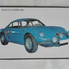 Coleccionismo Calendarios: CALENDARIO BOLSILLO 1995 PORTUGAL - LOBO DAS NEVES - COCHE AUTOMOVIL RENAULT ALPINE. Lote 194541871