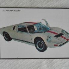 Coleccionismo Calendarios: CALENDARIO BOLSILLO 1995 PORTUGAL - LOBO DAS NEVES - COCHE AUTOMOVIL CAMPEADOR 2000. Lote 194541881