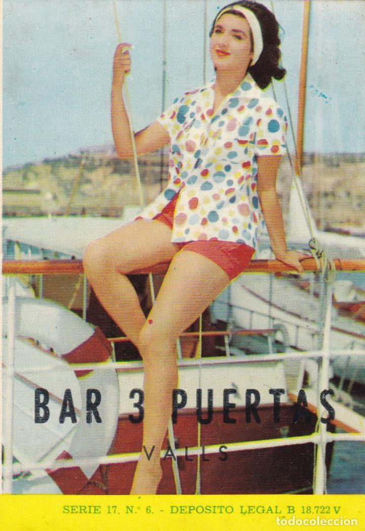 CALENDARIO DE BOLSILLO PUBLICIDAD .--. AÑO 1967 .-BAR 3 PUERTAS VALLS .----- VER FOTO ADICIONAL (Coleccionismo - Calendarios)