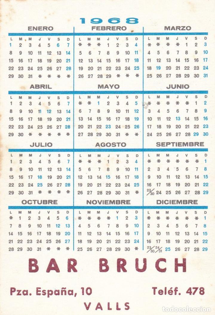 Coleccionismo Calendarios: CALENDARIO DE BOLSILLO PUBLICIDAD .--. AÑO 1968 .- BAR BRUCH VALLS .----- VER FOTO ADICIONAL - Foto 2 - 194557520