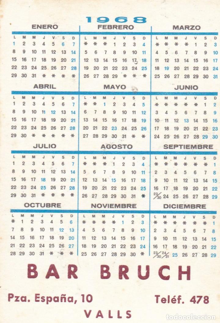 Coleccionismo Calendarios: CALENDARIO DE BOLSILLO PUBLICIDAD .--. AÑO 1968 .- BAR BRUCH VALLS .----- VER FOTO ADICIONAL - Foto 2 - 194557668