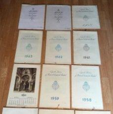 Coleccionismo Calendarios: LOTE 12 CALENDARIOS GRANDES 40 CM ALMANAQUES PARED CAJA AHORROS MONTE PIEDAD MADRID 1955 A 1976 . Lote 194574392