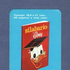 Coleccionismo Calendarios: CALENDARIO DE BOLSILLO AÑO 1971 - SILABARIO DISNEY (CALENDARIO ESCOLAR 1971/72) EDIC. SUSAETA. Lote 194581842