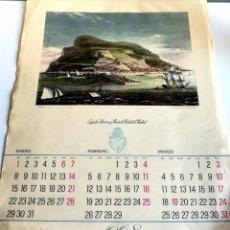 Coleccionismo Calendarios: ANTIGUO GRAN CALENDARIO 40 CM ALMANAQUE PARED CAJA AHORROS MONTE PIEDAD MADRID 1968. Lote 194582295