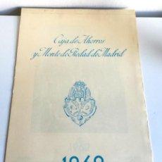 Coleccionismo Calendarios: ANTIGUO GRAN CALENDARIO 45 CM ALMANAQUE PARED CAJA AHORROS MONTE PIEDAD MADRID 1962. Lote 194583362