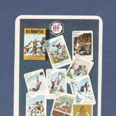 Coleccionismo Calendarios: CALENDARIO DE BOLSILLO FOURNIER AÑO 1969 - JUEGOS DE CARTAS LOS DEPORTES. Lote 194583445