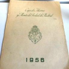 Coleccionismo Calendarios: ANTIGUO GRAN CALENDARIO 40 CM ALMANAQUE PARED CAJA AHORROS MONTE PIEDAD MADRID 1956. Lote 194584071