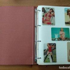 Coleccionismo Calendarios: PEQUEÑA COLECCION DE CALENDARIOS DE BOLSILLO PEGADOS EN ALBUM AÑOS 70 CHICAS. Lote 194601142