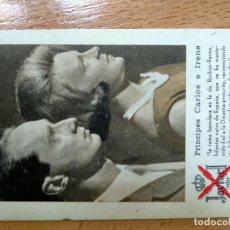 Coleccionismo Calendarios: CALENDARIO CARLISTA PRINCIPES CARLOS E IRENE AÑO DE 1967. Lote 194639363