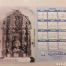 Coleccionismo Calendarios: CALENDARIO PUBLICITARIO. GRUPO TRADICIONAL GAVILLA. AÑO 2020 . Lote 194684575
