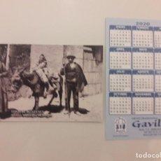 Coleccionismo Calendarios: CALENDARIO PUBLICITARIO. GRUPO TRADICIONAL GAVILLA. AÑO 2020 . Lote 194684590