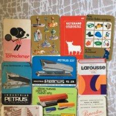 Coleccionismo Calendarios: CALENDARIOS, DIEZ DE VARIOS AÑOS. Lote 194685408