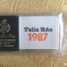 Coleccionismo Calendarios: CURIOSO CALENDARIO PARA PONER EN EL COCHE DE 1987. Lote 194736200