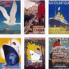 Coleccionismo Calendarios: 27 CALENDARIOS BARCOS TRASATLANTICOS, COMPAÑIAS NAVIERAS, AÑO 2009, CASA NAIPES COMAS , IMPECABLES. Lote 194754636