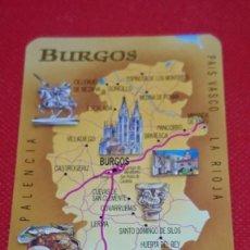 Coleccionismo Calendarios: CALENDARIO MAPA PROVINCIA DE BURGOS AÑO 1998. Lote 194760286