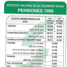 Coleccionismo Calendarios: CALENDARIO FOURNIER - AÑO 1999 - PENSIONES - NUEVO. Lote 194883067