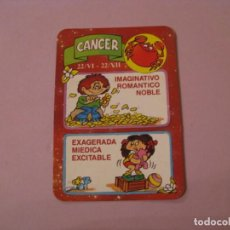 Coleccionismo Calendarios: CALENDARIO HORÓSCOPO. 1991. CANCER. PUBL. DE COMERCIO EN MÁLAGA.. Lote 194883512