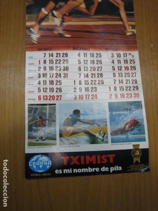 Coleccionismo Calendarios: Antiguo calendario deportivo Cegasa - Foto 3 - 194897265