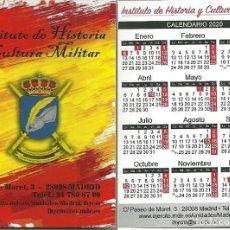 Coleccionismo Calendarios: CALENDARIO PUBLICITARIO. INSTITUTO DE HISTORIA Y CULTURA MILITAR. AÑO 2020. Lote 194904908