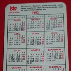 Coleccionismo Calendarios: CALENDARIO PUBLICIDAD BTV ZARAGOZA AÑO 1982. Lote 194935442