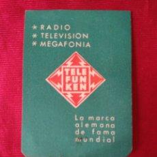 Coleccionismo Calendarios: CALENDARIO DE 1963 DE PUBLICIDAD YELEFUNKEN. Lote 194944036