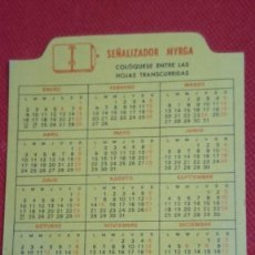 Coleccionismo Calendarios: CALENDARIO SEÑALIZADOR MYRGA AÑO 1989 . Lote 194948981