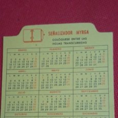 Coleccionismo Calendarios: CALENDARIO SEÑALIZADOR MYRGA AÑO 1989 . Lote 194949071