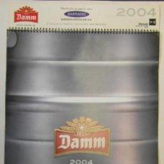 Coleccionismo Calendarios: DAMM 2004. HOJAS CON 2 MESES. MEDS: 420X617 MMS.. Lote 194959043