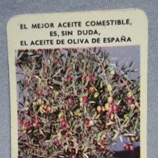Coleccionismo Calendarios: CALENDARIO PUBLICIDAD EL MEJOR ACEITE COMESTIBLE ES ACEITE DE OLIVA DE ESPAÑA AÑO 1965. Lote 194965927
