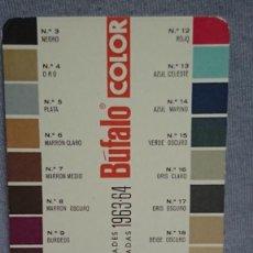 Coleccionismo Calendarios: CALENDARIO PUBLICIDAD BÚFALO LA CREMA DE BELLEZA DEL CALZADO AÑO 1964. Lote 194966342