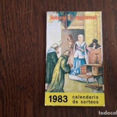 Coleccionismo Calendarios: CALENDARIO DE PUBLICIDAD LOTERÍA NACIONAL AÑO 1983. Lote 194972031
