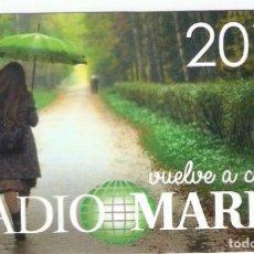 Coleccionismo Calendarios: CALENDARIO RADIO MARIA 2017. Lote 194982270