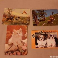 Coleccionismo Calendarios: 4 CALENDARIO BOLSILLO ANIMALES. Lote 195056580