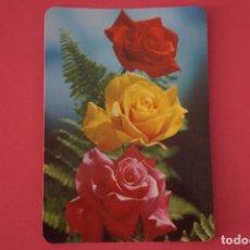 Coleccionismo Calendarios: CALENDARIO DE BOLSILLO SIN PUBLICIDAD ROSAS VARIOS COLORES AÑO 1981 LOTE 23. Lote 195075402
