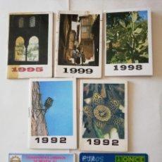 Coleccionismo Calendarios: CALENDARIOS, 5 ALMANAQUES, 1 TARJ TRANSPORTE Y TRANSF DE EUROS. Lote 195099276