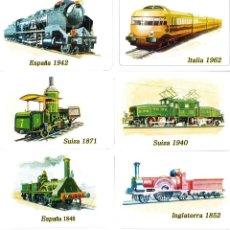 Coleccionismo Calendarios: CALENDARIO BOLSILLO NAIPES COMAS (LOTE DE 16) TRANSPORTE 2008 (TREN - LOCOMOTORAS) NUEVOS. Lote 195165062