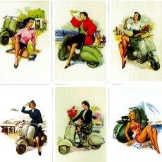 Coleccionismo Calendarios: 9 CALENDARIOS CHICAS CON MOTOCICLETA VESPA - DIBUJOS DE FRANCO MOSCA - NAIPES COMAS - AÑO 2007. Lote 195165911