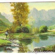 Coleccionismo Calendarios: -49478 CALENDARIO PINTURA LLEVANDO EL GANADO AL RIO, AÑO 1982, SERIE BO 5657, CON PUBLICIDAD. Lote 195188320
