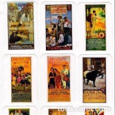 Coleccionismo Calendarios: -71182 9 CALENDARIOS CARTELES SAN FERMINES, TOROS,AÑO 2018, DESDE 1881, EMISION PARTICULAR, 5º JUEGO. Lote 195232053