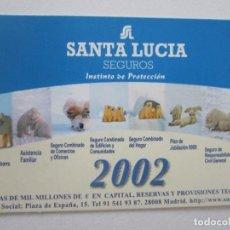 Coleccionismo Calendarios: CALENDARIO SANTA LUCÍA 2002. Lote 195287670