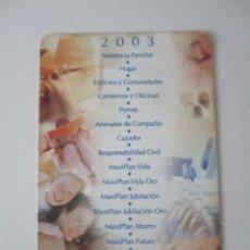 Coleccionismo Calendarios: CALENDARIO SANTA LUCÍA 2003. Lote 195287741