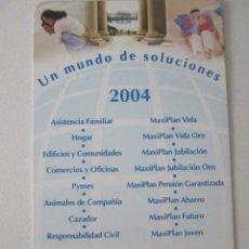Coleccionismo Calendarios: CALENDARIO SANTA LUCÍA 2004. Lote 195287820
