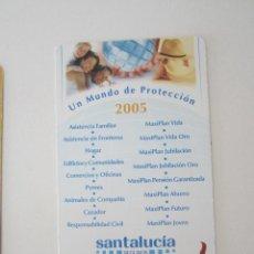 Coleccionismo Calendarios: CALENDARIO SANTA LUCÍA 2005. Lote 195287912