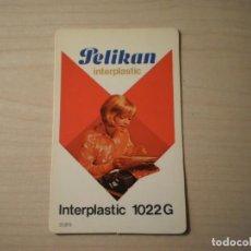 Coleccionismo Calendarios: CALENDARIO BOLSILLO PELIKAN INTERPLASTIC 1022 G (1978). Lote 195301467