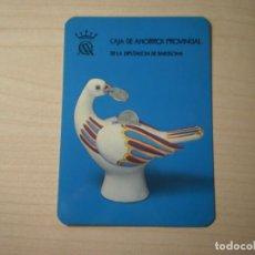 Coleccionismo Calendarios: CALENDARIO BOLSILLO CAJA DE AHORROS PROVINCIAL DE LA DIPUTACIÓN DE BARCELONA (1975). Lote 195302267